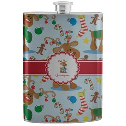 Reindeer Stainless Steel Flask (Personalized)