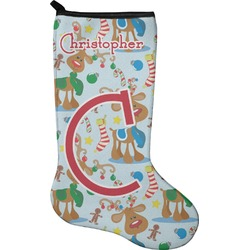 Reindeer Holiday Stocking - Neoprene (Personalized)