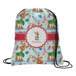 Reindeer Drawstring Backpack (Personalized)