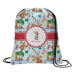 Reindeer Drawstring Backpack (Personalized)