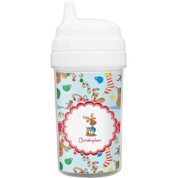Reindeer Toddler Sippy Cup (Personalized)