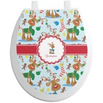 Reindeer Toilet Seat Decal (Personalized)