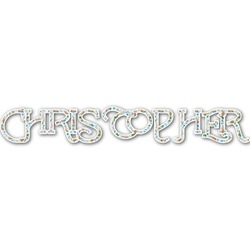 Reindeer Name/Text Decal - Custom Sized (Personalized)