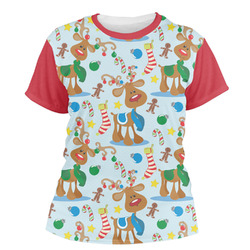 Reindeer Women's Crew T-Shirt (Personalized)