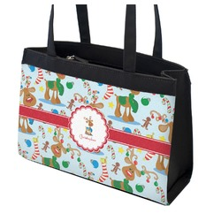 Reindeer Zippered Everyday Tote (Personalized)
