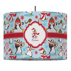 Christmas Penguins Drum Pendant Lamp (Personalized)