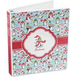 Christmas Penguins 3-Ring Binder (Personalized)