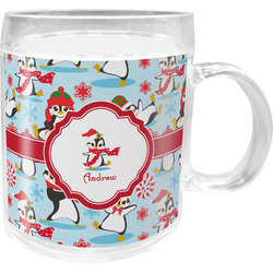 Christmas Penguins Acrylic Kids Mug (Personalized)