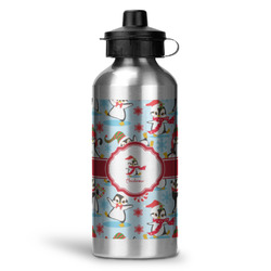 Christmas Penguins Water Bottle - Aluminum - 20 oz (Personalized)
