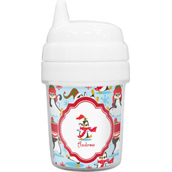 Christmas Penguins Baby Sippy Cup (Personalized)
