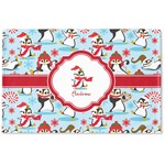 Christmas Penguins Woven Mat (Personalized)