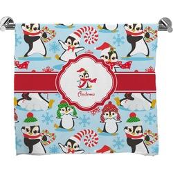 Christmas Penguins Bath Towel (Personalized)
