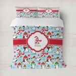 Christmas Penguins Duvet Cover (Personalized)