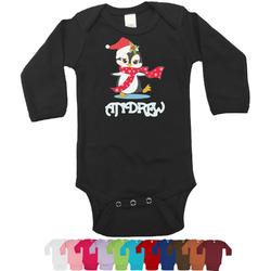 Christmas Penguins Bodysuit - Black (Personalized)