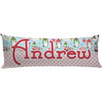 Christmas Penguins Body Pillow Case (Personalized)