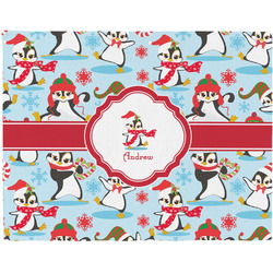 Christmas Penguins Placemat (Fabric) (Personalized)