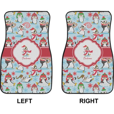 christmas penguins car floor mats front seat personalized rnk shops. Black Bedroom Furniture Sets. Home Design Ideas