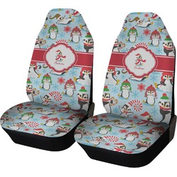 Christmas Penguins Car Seat Covers (Set of Two) (Personalized)