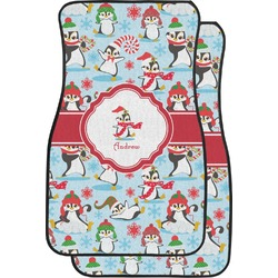 Christmas Penguins Car Floor Mats (Front Seat) (Personalized)