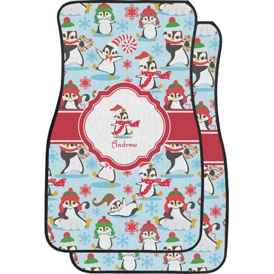 christmas penguins car floor mats front seat personalized you customize it. Black Bedroom Furniture Sets. Home Design Ideas