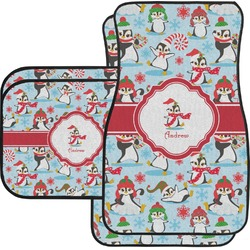 Christmas Penguins Car Floor Mats (Personalized)