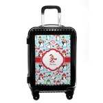 Christmas Penguins Carry On Hard Shell Suitcase (Personalized)