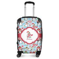 Christmas Penguins Suitcase (Personalized)