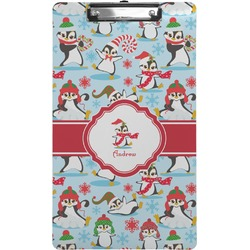 Christmas Penguins Clipboard (Legal Size) (Personalized)