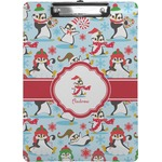 Christmas Penguins Clipboard (Personalized)