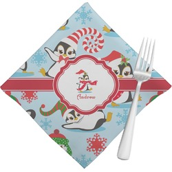 Christmas Penguins Napkins (Set of 4) (Personalized)