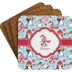 Christmas Penguins Coaster Set (Personalized)