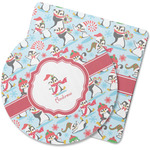 Christmas Penguins Rubber Backed Coaster (Personalized)