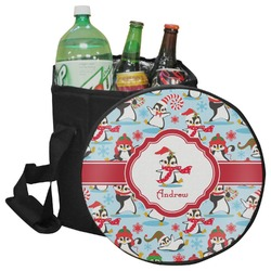 Christmas Penguins Collapsible Cooler & Seat (Personalized)