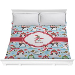 Christmas Penguins Comforter - King (Personalized)