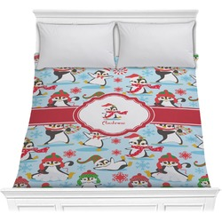 Christmas Penguins Comforter (Personalized)