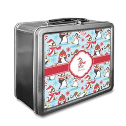 Christmas Penguins Lunch Box (Personalized)