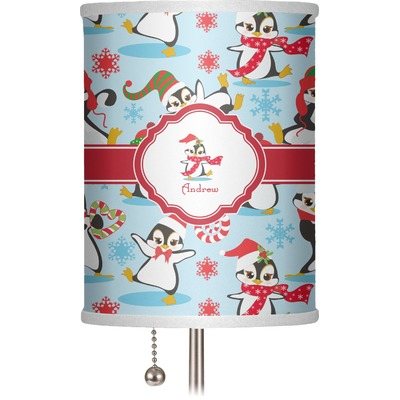 """Christmas Penguins 7"""" Drum Lamp Shade (Personalized)"""