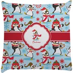 Christmas Penguins Decorative Pillow Case (Personalized)
