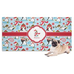 Christmas Penguins Dog Towel (Personalized)