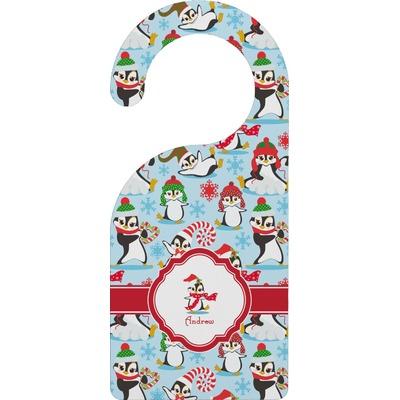 Christmas Penguins Door Hanger (Personalized)