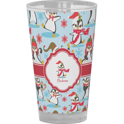 Christmas Penguins Drinking / Pint Glass (Personalized)