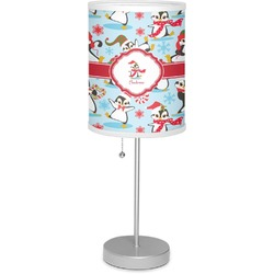 "Christmas Penguins 7"" Drum Lamp with Shade (Personalized)"