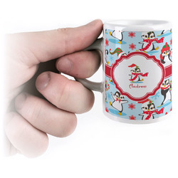 Christmas Penguins Espresso Mug - 3 oz (Personalized)
