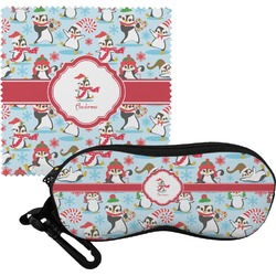 Christmas Penguins Eyeglass Case & Cloth (Personalized)
