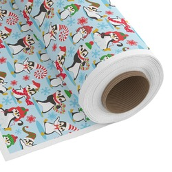 Christmas Penguins Custom Fabric - Spun Polyester Poplin (Personalized)