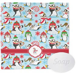 Christmas Penguins Wash Cloth (Personalized)