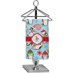 Christmas Penguins Finger Tip Towel - Full Print (Personalized)