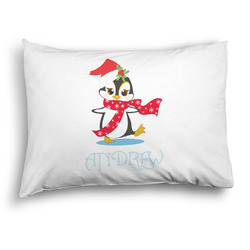 Christmas Penguins Pillow Case - Standard - Graphic (Personalized)
