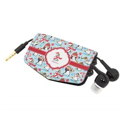 Christmas Penguins Genuine Leather Cord Wrap (Personalized)