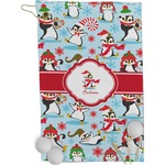 Christmas Penguins Golf Towel - Full Print (Personalized)